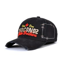 DSQICOND2 Casual Black Baseball Caps Men Brand DSQ Letter Snapback Cap for Mens Women Cap Gorras Bone Dad Hats Hip Hop Casquette цена в Москве и Питере