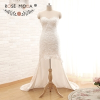 100 Real Photo Short Front Long Back Beaded Lace Wedding Dresses With Sweetheart Neckline