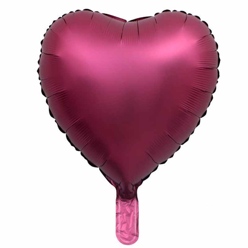 100pcs 18inch Metal Pearl Color Heart Foil Balloons Party Decoration Sweety Love Style Airball Colorful Ballons Wedding in Ballons Accessories from Home Garden
