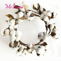 Dia 26cm cotton wreath dried flowers Simulation Plant garland decoration for Home Wedding Fake Flower Christmas wall door decor