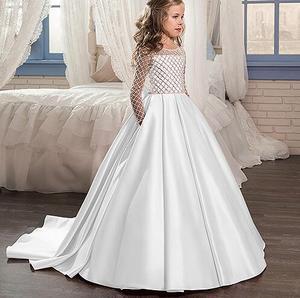 Image 4 - Cô gái Váy Cưới Cô Gái Bên Ăn Mặc Màu Hồng Trắng Net Tổng Thể Bóng Áo Choàng Cô Gái Công Chúa Ăn Mặc Quần Áo cho trẻ em 2  13 năm