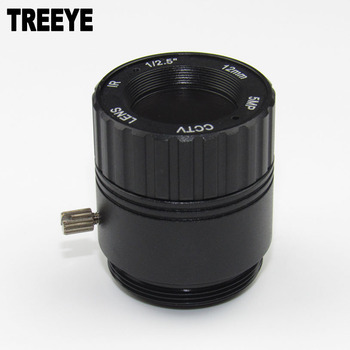 "HD 5.0Megapixel CCTV Lens 12mm CS Lens 5MP for HD Security Cameras F2.0 Image Format 1/2.5"" Metal HFOV 28D"