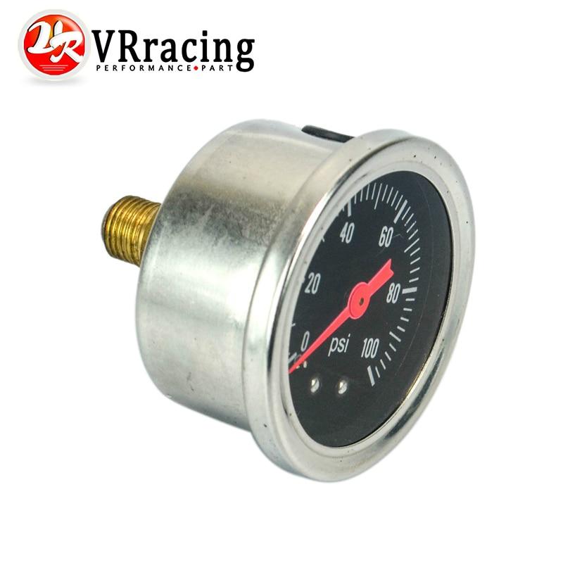 VR - Fuel Pressure Gauge Liquid 0-100 psi / 0-160psi Oil Pressure Gauge Fuel Gauge Black / white Face VR-OG33(China)