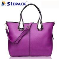 Elegant Style Genuine Leather Women Bags Shoulder Handbag Cowhide Lash Package Thread Female Casual Tote Promotional