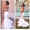 Muestra verdadera Sirena de Oro Con Lentejuelas Top Blanco Dos 2 Unidades Vestidos de baile 2016 Barato Formal Largo Vestidos de Noche Vestido de Fiesta vestidos