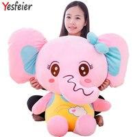 40-70 cm blu/rosa/giallo kawaii bowtie Elephant plush doll stuffed aniamls bambino regalo di compleanno peluche giocattoli vestito bambola Elefante