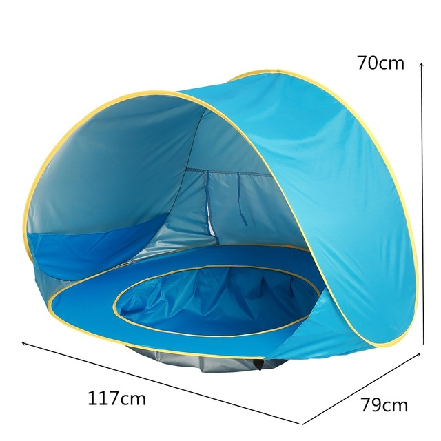 Waterproof Blue Baby Tents Portable Playing House For Outdoor Beach Pool Kids Tee Tent Children