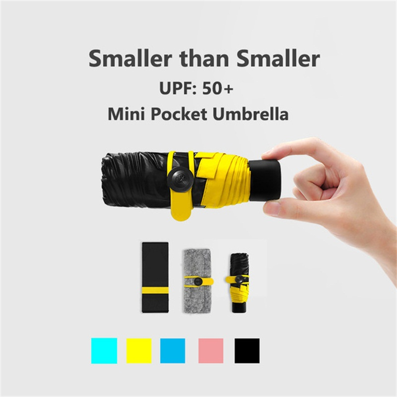 Quality Mini Pocket Umbrella Clear Men S Windproof Folding Umbrellas Women Compact Rain