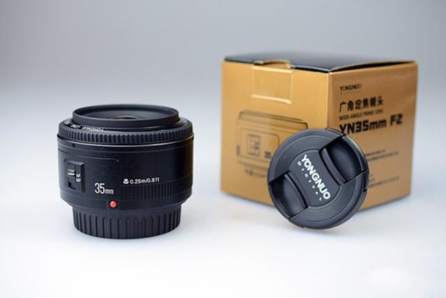 Prix pour Prêt Stock! yongnuo 35mm f2 caméra lentille lentilles grande ouverture mise au point automatique pour canon5d 500d 400d 650d 600d 450d 60d 7d