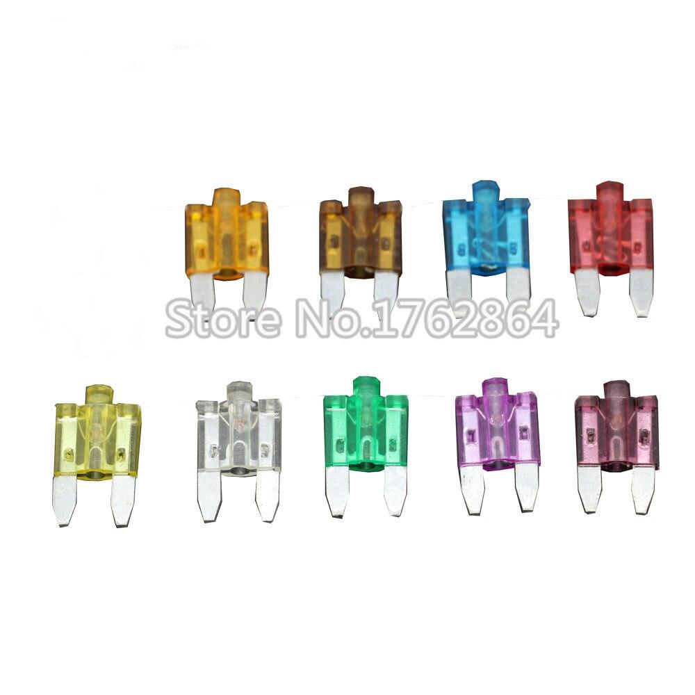 27 PCS 5A ~ 40A Tamanho Pequeno Auto fusível insere inserções de comprimidos de seguro de carro pequeno fusível com lâmpada do carro fusível