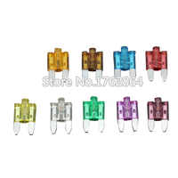 27PCS 5A~40A Small Size Auto fuse  inserts car insurance tablets small fuse with lamp   car inserts fuse