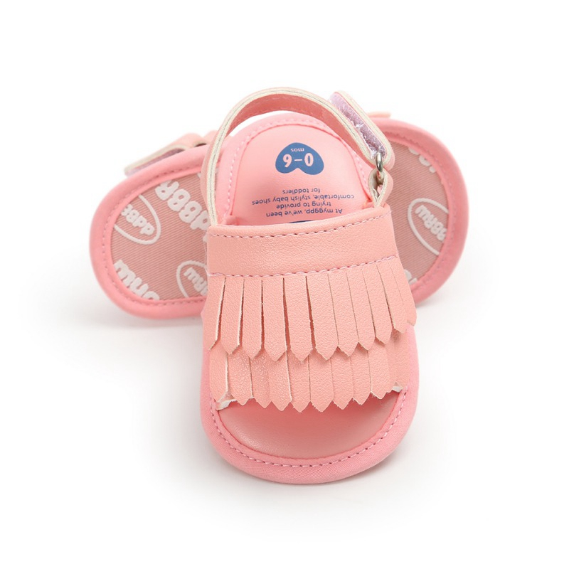 Bow Knot Baby Shoes Newborn Baby Girl Sandals Summer Casual Fashion Beach Tassel Sandals For Girls PU Prewalker