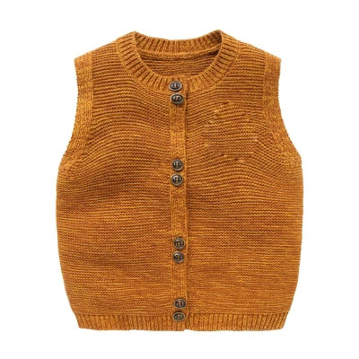 Boys Knitted Wool Vest Spring & Autumn Children's Sleeveless Clothing Baby Girls Waistcoats Sweater