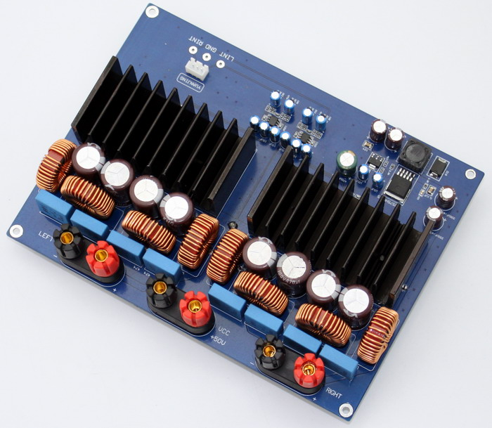 1200w TAS5630 + OPA1632DR 2.0 channel Class D Digital Amplifier board 330UF/100V*4