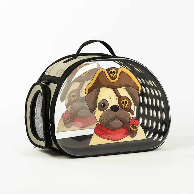 Pet Cartoon Printing Cat Bag Transparent Portable Out Carrying Bag Mesh Breathable Out Pet Supplies in Top Handle Bags from Luggage Bags