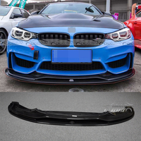 OLOTDI Car Tuning Real Carbon fiber Front Lip Bumper Spoiler Splitter for BMW F82 M4 F80 M3 PSM style 2015 year up