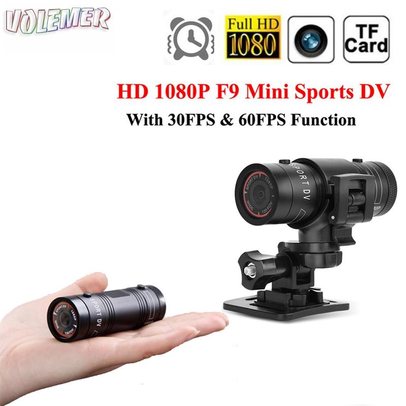 все цены на Volemer F9 mini camera Full HD 1080P IR night version Voice video recorder Motorcycle bike Outdoor Sports DV DVR video camera онлайн