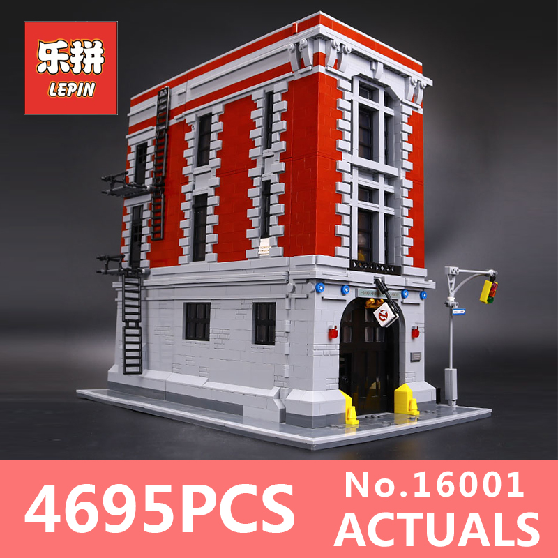 4695Pcs Lepin 16001 City series Firehouse Headquarters house Model Building Blocks Compatible 75827 Architecture Toy to children mr froger loz burj khalifa tower high diamond block world famous architecture series toy bricks building blocks house model city