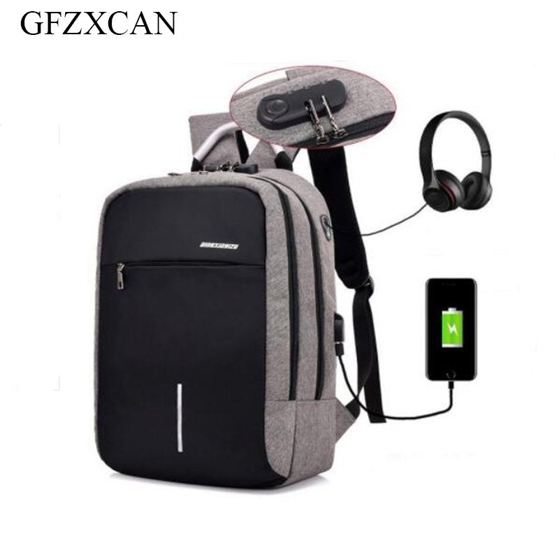 2018 new travel men's backpack multi-function fashion anti-theft backpack smart USB charging computer bag
