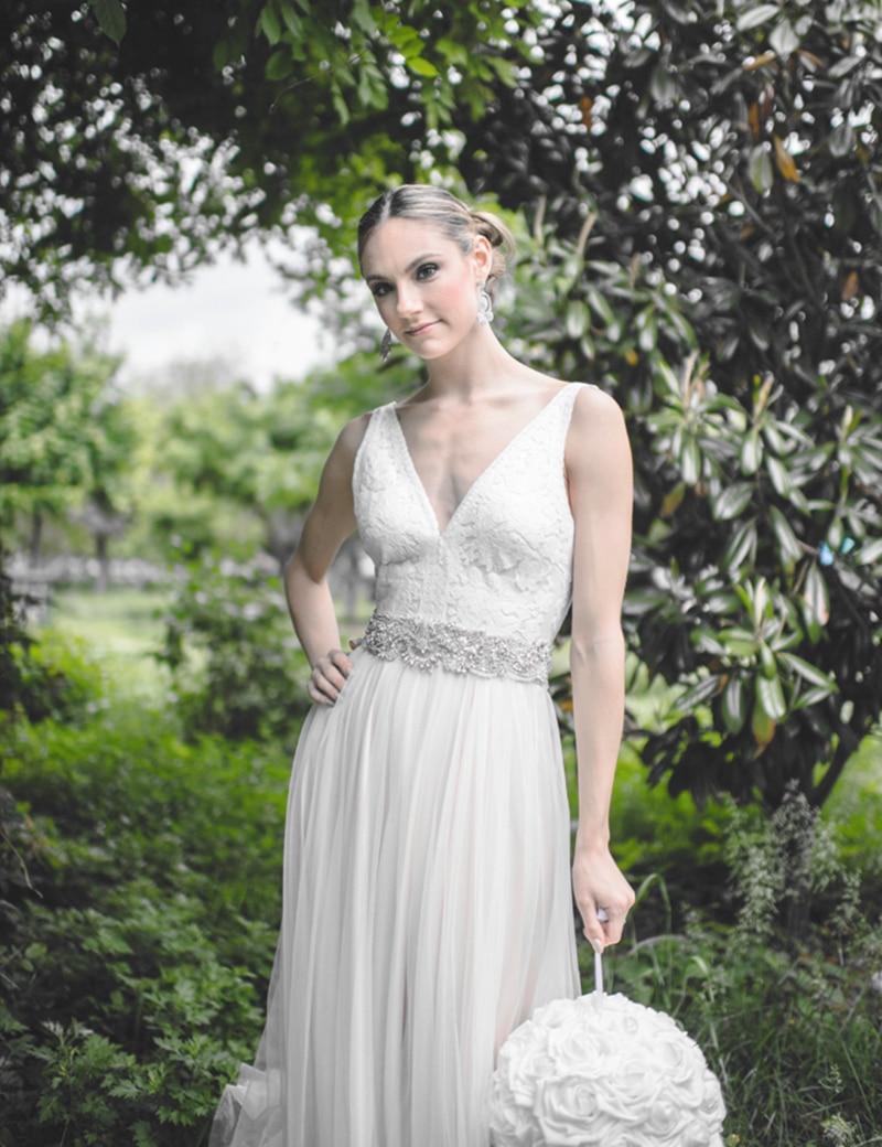 Venta caliente 2017 Vestido De Novia sexy escote en V blanca con ...