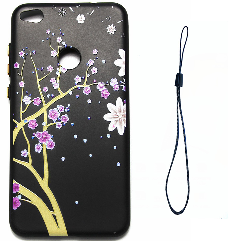 3D Relief flower silicone case huawei p8 lite 2017 honor 8 lite (1)