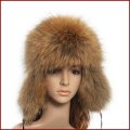 Winter  bomber hat  cap with genuine fox /raccoon fur  women autumn winter  fashion thickening earflap Ushanka  hat HA102