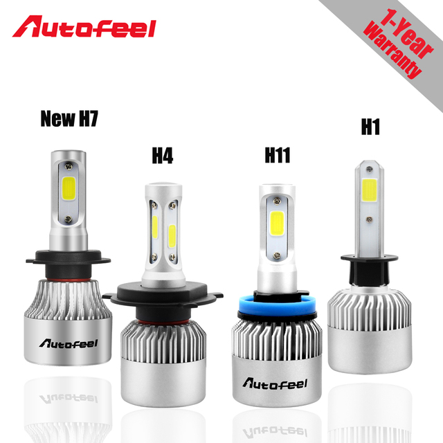 US $31 9 |H4 Led Car light H1 H7 H11 Car Led Headlight bulbs Super bright  8000LM 72w Cool white 6000k Led 12v COB All in one Auto lamps-in Car