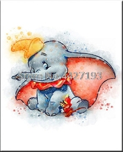5D Diamond Embroidery Cartoon Pictures Rhinestones Full Square Painting Elephant Mosaic Children Gift