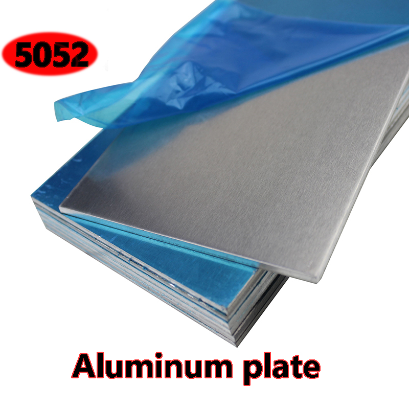 5052 Aluminum plate Flat Aluminum Sheet  DIY Thickness 3mm 5mm 6mm 8mm 10mm  100x100mm 100x200mm Customizable