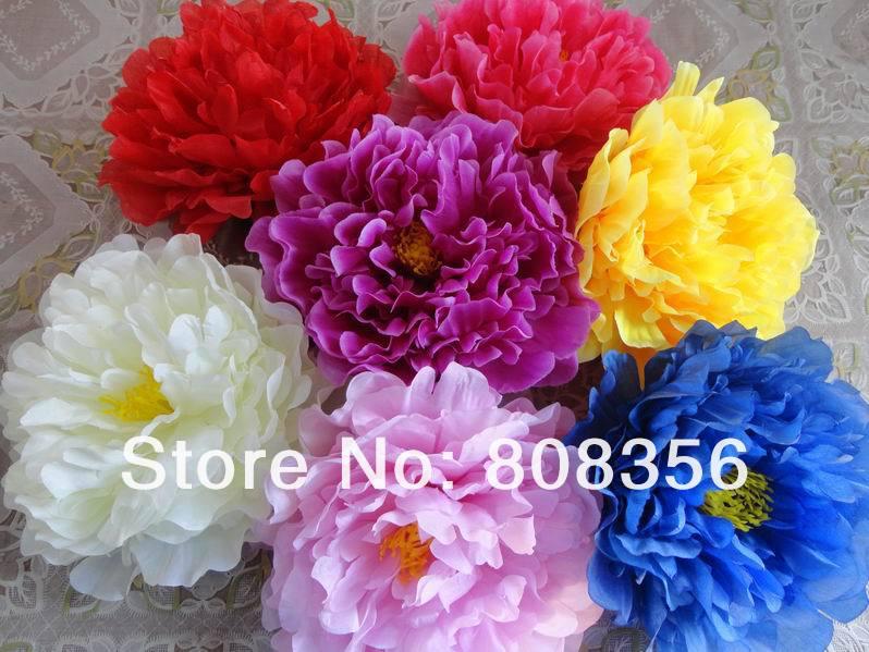 Artificial Fabric 12 Layers 16cm Big Peony Rose Camellia Flower Head for Diy Jewelry Wedding Christmas
