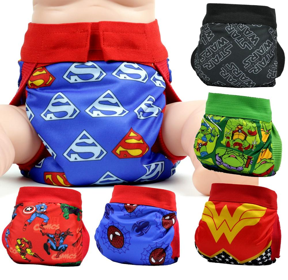 FREE SHIPPING 2017 Superhero Gladbaby Diaper  Costume  Superman Cloth Diaper Nappies Adjustable Washable