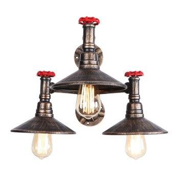 Loft Rétro Vintage Métal Peint Industriel Plafond Lampes Murales E27 LED Conduit D'eau Lumières Pour Salon Chambre Restaurant Bar