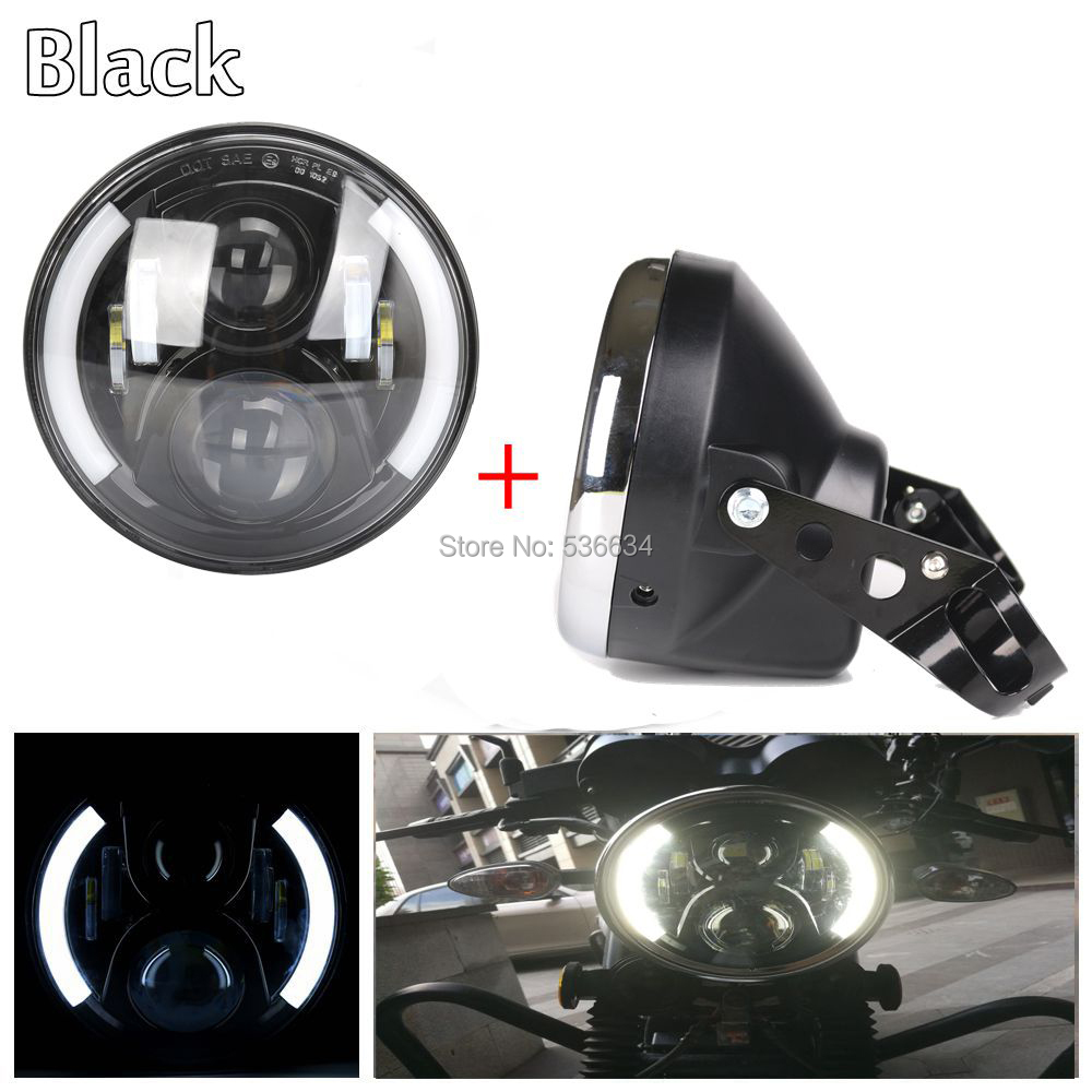 7 inch led headlight Daymaker Projector with DRL  Headlamp Shell or Lamp Shell for Harley Davidson Softail Slim atributika