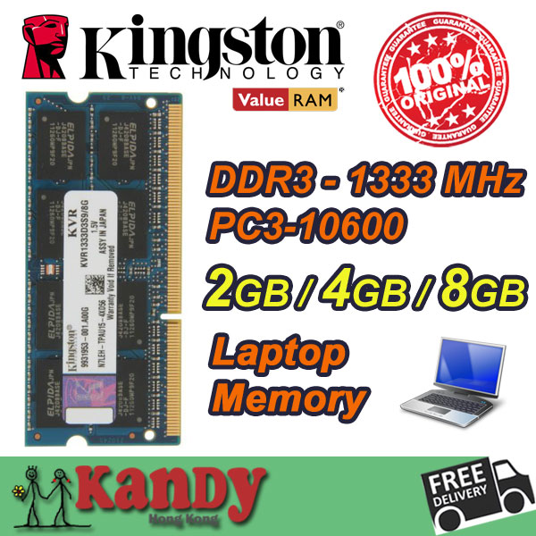 Kingston notebook laptop memory RAM DDR3 2GB 4GB 8GB 1333MHz 204 Pin SODIMM Non-ECC wholesale for Lenovo ThinkPad SONY Acer Dell kingston valueram desktop memory ram ddr3 2gb 4gb 8gb 1333 mhz pc3 10600 non ecc 240 pin dimm memoria ram computer computador pc