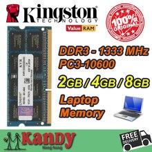 Kingston notebook laptop-speicher ram ddr3 2 gb 4 gb 8 gb 1333 mhz 204 pin sodimm nicht ecc großhandel für lenovo thinkpad sony acer dell