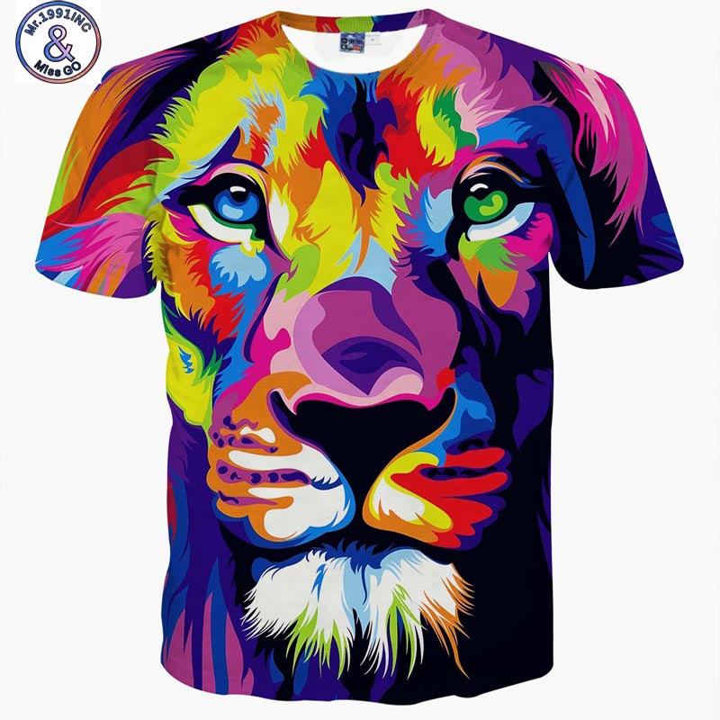 Impression style men women 3d t shirt printing for Full size t shirt printing