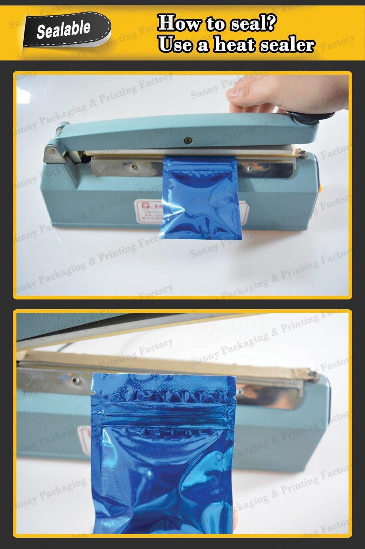 """100 шт 9x13 см(3,"""" x 5,1""""), красочная термопечать, предотвращающая появление запаха мешки из фольги мешки для хранения продуктов"""