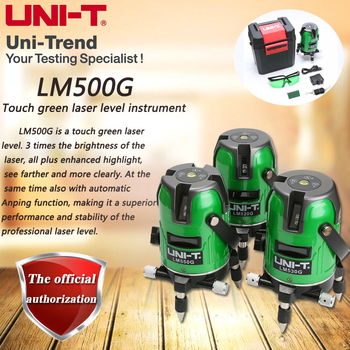 UNI-T LM520G LM530G LM550G touch green laser level instrument 2/3/5 line cross marking instrument фото