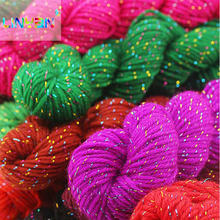 5 pieces silk 33% acrylic fibers 67% sewing for knitting wool knit Crochet wool diy crochet yarn to knit thread t9(China)