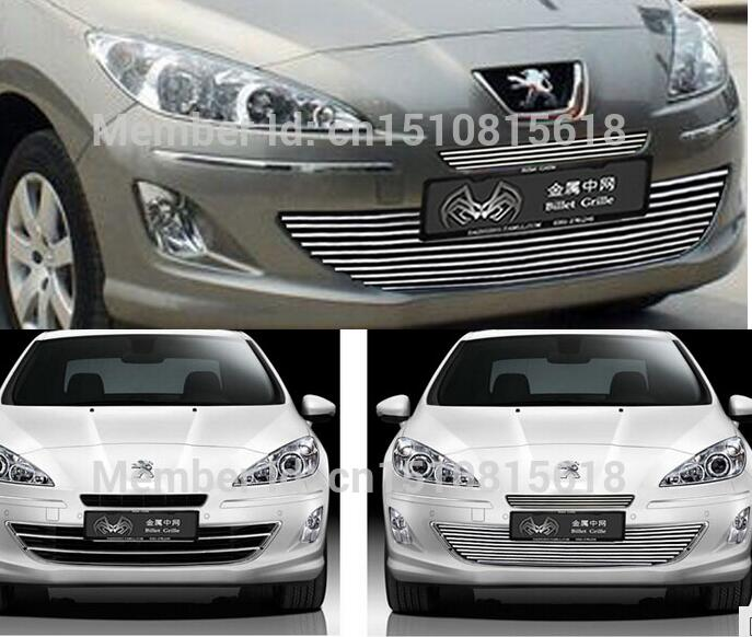 Quality Stainless steel Car front bumper Mesh Grille Around Trim Racing Grills 2010-2013 for Peugeot 408 2010 2013 mk6 abs auto car mesh bumper grille front grills for vw golf vi mk6 standard bumper