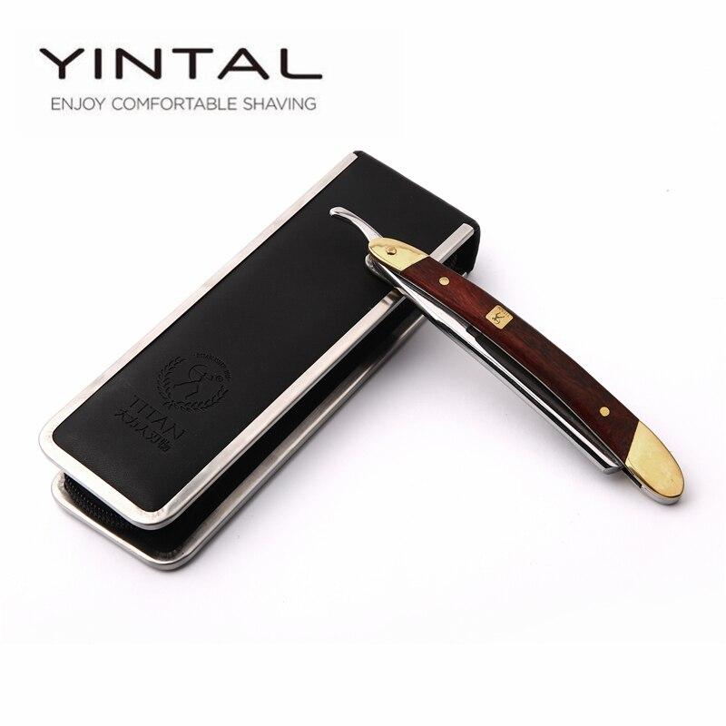 VG-10HZ <font><b>Straight</b></font> <font><b>Razor</b></font> Men Shaving Titan Navalha Wood Handle Barbeador Copper Manual Shaver <font><b>Classic</b></font> Scraper Barbear