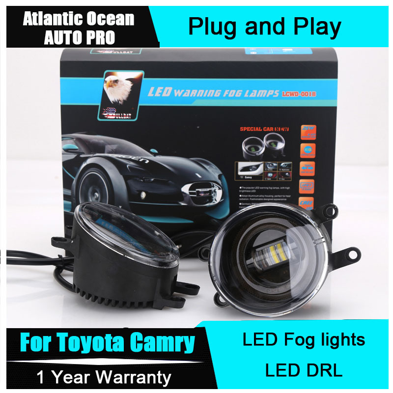 AUTO PRO 2015 For Toyota Camry led fog lights+LED DRL+turn signal lights Car Styling LED Daytime Running Lights LED fog lamps car styling fog lights for toyota camry 2012 2014 pair of 12v 55w front fog lights bumper lamps daytime running lights