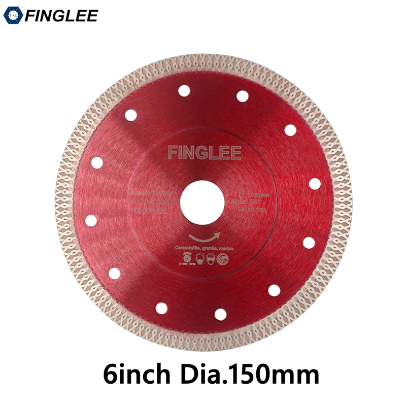 1Pc 6in/150mm Wave Style Diamond Saw Blade For Porcelain Tile Ceramic Dry Cutting Aggressive Disc Marble Granite Stone Saw Blade