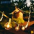 4x25 Ft Globo Claro G40 Cadena Luces Set con 4*25 G40 Bombillas Incluidas Cadena Bombillas Luces del Patio y Patio de Vacaciones luces