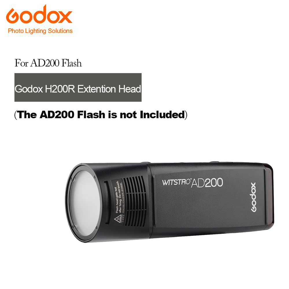 In Stock Godox New H200R Round Flash Head For AD200 Flashes Separation Extension Head Portable Photography Shooting 10pcs safety shooting eva bullet round head