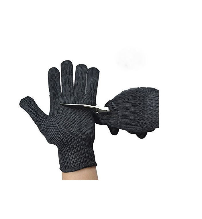 Anti-cutting work safety gloves Food grade 5 protection, kitchen cutting fish fillet processing, meat cutting and wood carving, fish quality and processing