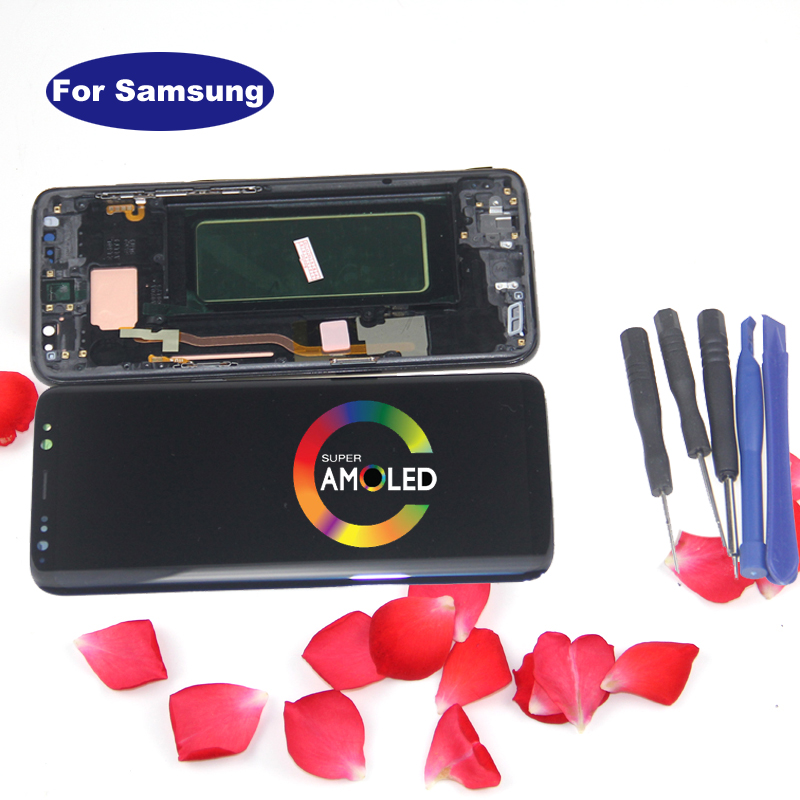 S8 LCD Replacement For SAMSUNG Galaxy S8 G950 G950F Display Touch Screen Digitizer Super AMOLED