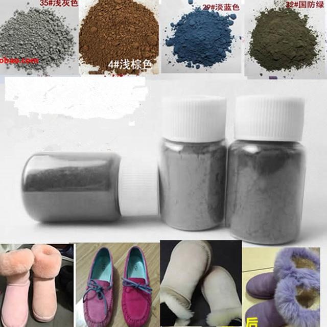 Polikromatik kar botları toner ayakkabı tozu, kürklü taşlama tozu, geyik cilt tozu, süet kaplama renkli toz