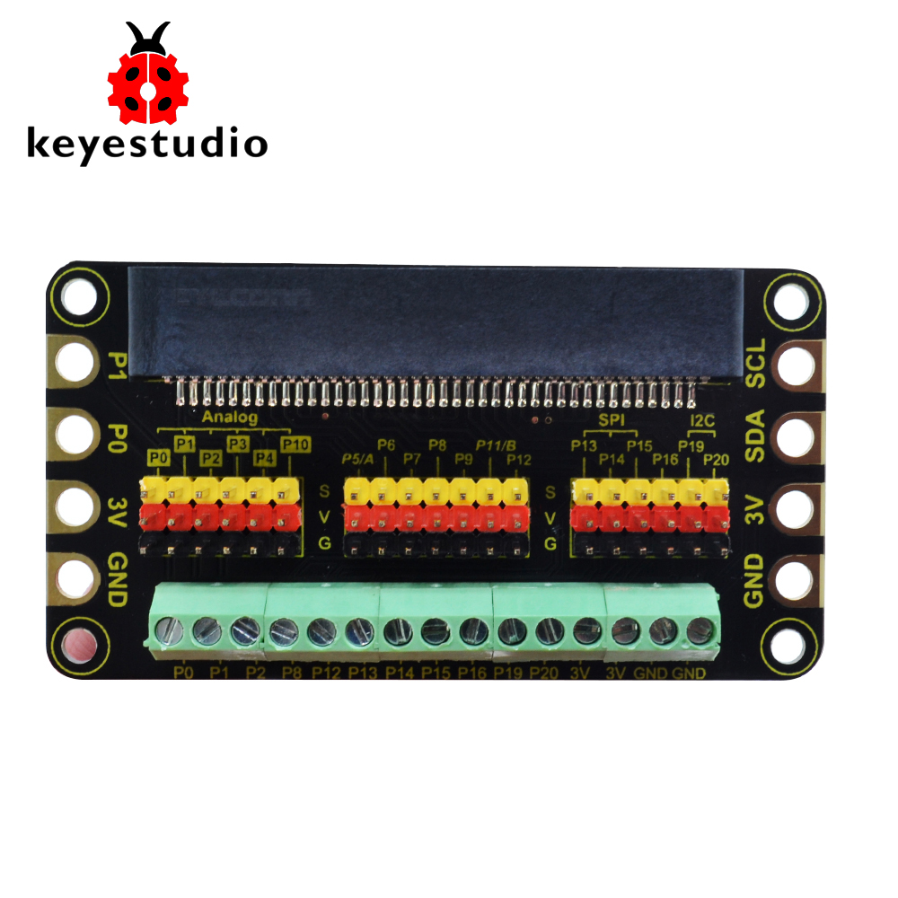 Keyestudio  Terminal Blocks Shield For BBC micro:bit|Demo Board Accessories| |  - title=