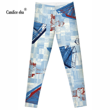 2016 hot  Fashion Vertical and horizontal bars Plus Size Sexy Extra-terrestrial Digital Printing Fitness LEGGINGS S-4XL